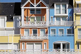 Colorful Normandy houses — Stock Photo
