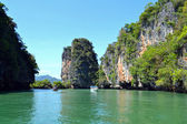 Tropical paradise lagoon — Stock Photo