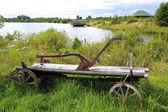 Idyllic village pastoral panorama — ストック写真