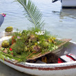 Floating market fruit boat — Stock Photo #42847409