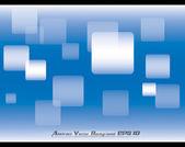 Abstract blue vector background - white rectanular bokeh — Stock Vector