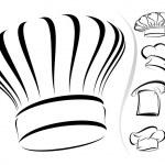 厨师的帽子剪影-矢量图标集 — 图库矢量图片
