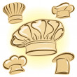 Chef hat vector icon set - Stock Vector
