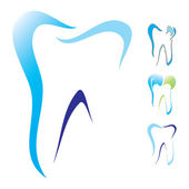 Diente dental icono conjunto — Vector de stock