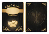Chef menu cover or board - vector 2 — Vector de stock