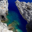 Snorkiling at a Secret cove Rhodes Greece — Stock Photo