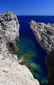 Secret cove Rhodes Greece — Stock Photo