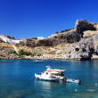 St Pauls Bay Lindos Rhodes Greece — Stock Photo