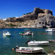 St Pauls Bay Lindos Rhodes Greece - Stock Photo