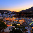 Stock Photo: Lindos rhodes greece sunset