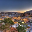 Lindos rhodes greece sunset HDR — Stock Photo