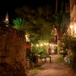 Rhodes town at night — Stock Photo