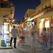 Busy streets in the Mediterranean — Stock Photo