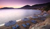 Mediterranean Sunset at Pefkos — Stock Photo