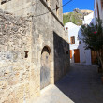 Lindos Door Rhodes Greece — Stock Photo #13384341