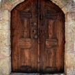 Lindos Door Rhodes Greece — Stock Photo