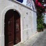 Lindos Door Rhodes Greece — Stock Photo #13384924