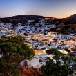 Lindos rhodes greece sunset — Stock Photo