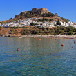 Lindos Beach — Stock Photo