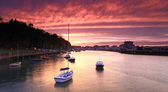 Sunset Weymouth Harbour England — Stock Photo