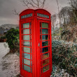 Snowey phone box in the Breacon Beacons — Stockfoto