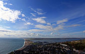 View point over chesil beach — Stock Photo