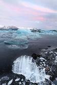 Восход лагуне Ёкюльсаурлоун — Стоковое фото