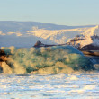 Jokulsarlon lagoon sunrise - Stock Photo