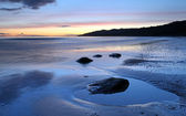 Sunset over Lyme Regis — Stock Photo