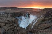 Caída de gullfoss islandia — Foto de Stock