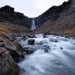 Stock Photo: Frozen Waterfall south east iceland