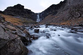 Frozen Waterfall south east iceland — Stock Photo