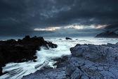 Mar tempestuoso na islândia no sudeste — Foto Stock