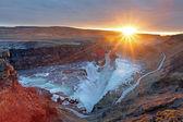 Gullfoss vallen ijsland — Stockfoto