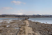 Caernarfon from the menai strait — Stock Photo