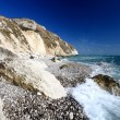 Rugged dorset coastline — Stock Photo