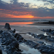 Постер, плакат: Sunset Woolacombe North Devon coast