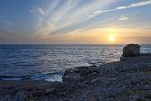 Sunset at Pulpit Rock Dorset — Stock Photo