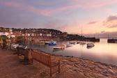 Mousehole Sunrise Cornwall — Stock Photo