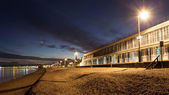 Victorian Promenade Beach Huts — Stock Photo