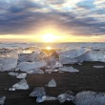 Jokulsarlon Iceberg Beach Iceland — Stock Photo