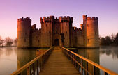 Bodiam Castle at sunrise — Stock Photo