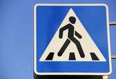 Dopravní značka přechod pro chodce — Stock fotografie