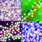 Abstract Christmas 4 backgrounds — Stock Photo
