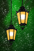 Two lights in the evening — Stock Photo