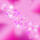 Background with hearts on pink — Stock Photo