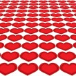 Hearts in a row — Stock Photo