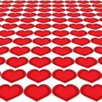 Hearts in a row — Stock Photo