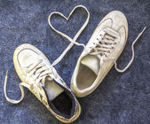 A pair of old sneakers — Stock Photo