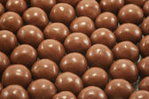Close Up Chocolate Malted Candies — Stock Photo